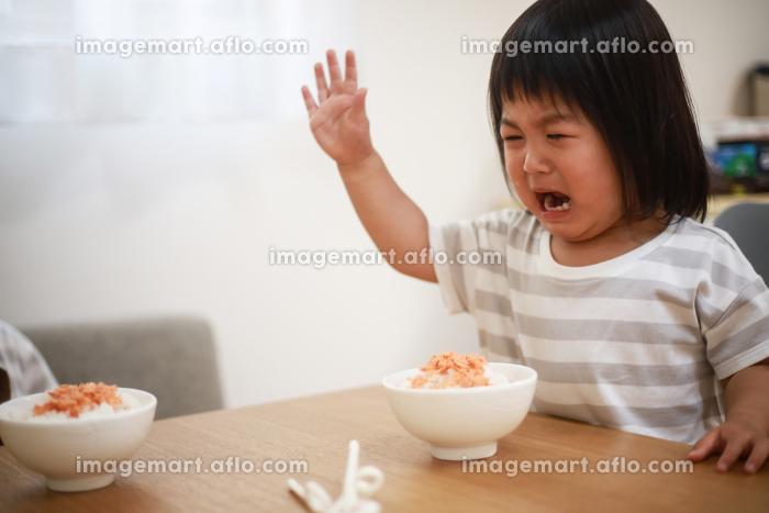 食事を嫌がる女の子の販売画像