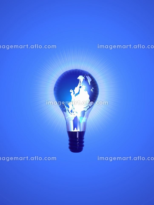 世界地図デザインの電球の販売画像