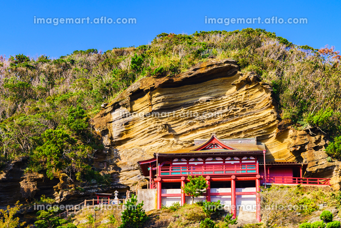 崖観音 【館山の観光名所】(*被写体の敷地外から外観を撮影しています)の販売画像