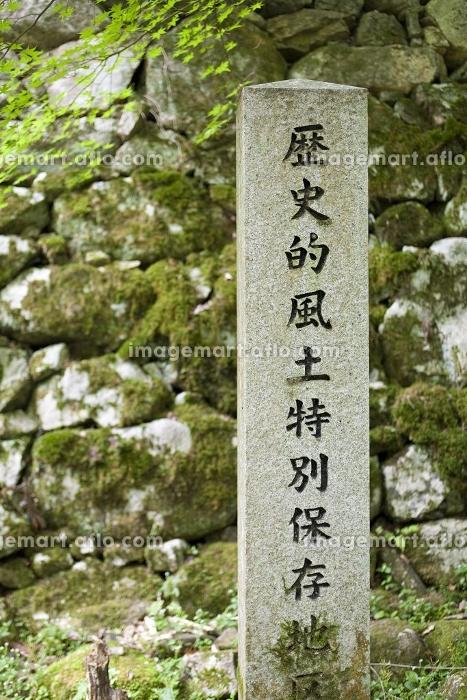 歴史的風土保存地区の碑の販売画像