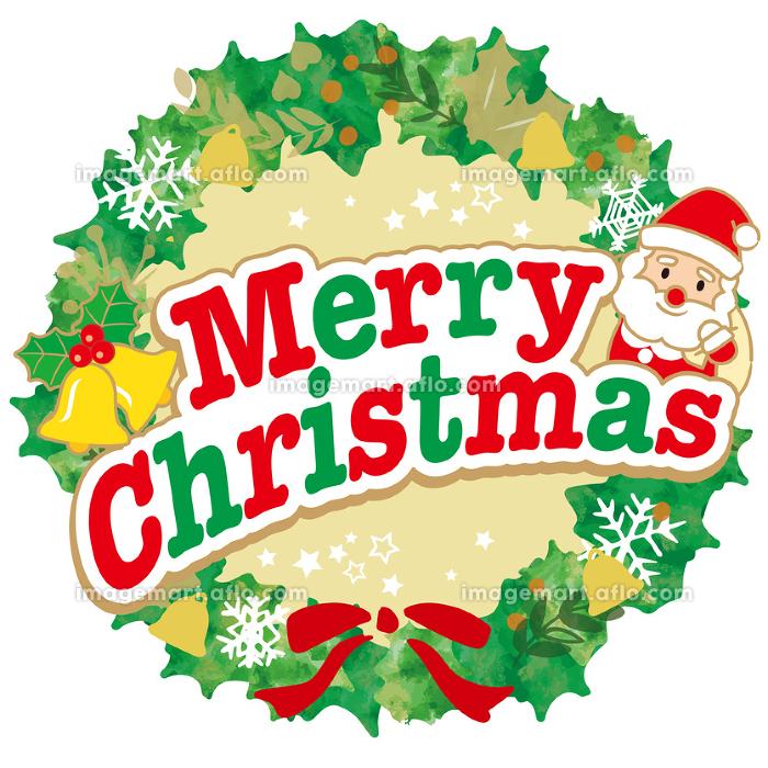 クリスマスロゴマーク背景の販売画像