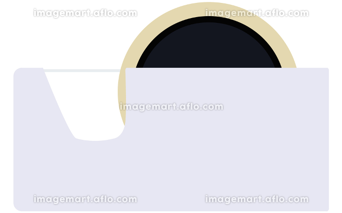 セロテープのイラスト カッター 接着 事務用品 文房具 アイコン ベクターの販売画像