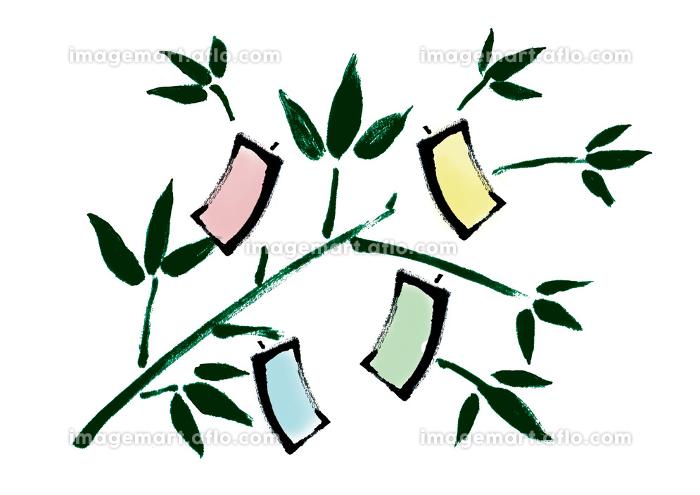 和風手描きイラスト素材 七夕飾り, 7月7日, 七夕祭りの販売画像