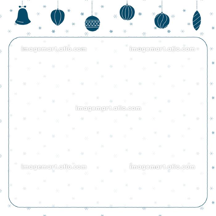 クリスマスの背景イラスト(青)の販売画像