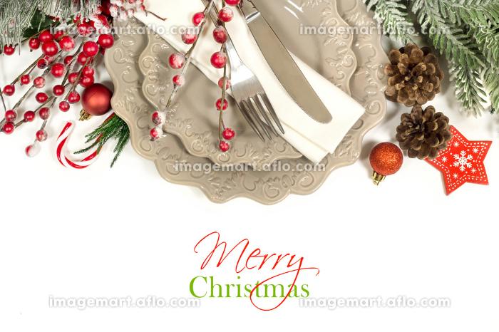 Christmas table settingの販売画像