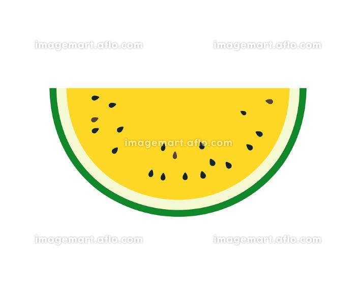 カットスイカ 半月 黄色の販売画像