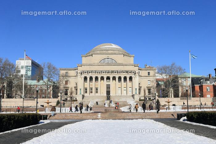 コロンビア大学 雪景色 ニューヨーク マンハッタン アメリカ合衆国の販売画像