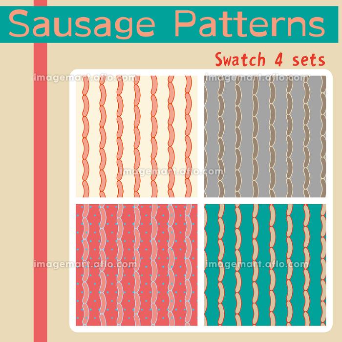 背景 パターン スウォッチ ソーセージの販売画像