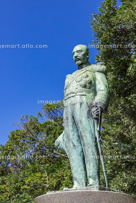 多賀山公園東郷平八郎元帥銅像 鹿児島県鹿児島市の販売画像