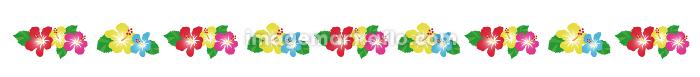 南国の花 ハイビスカスの装飾、ライン、区切り線 隙間あり(No.2)の販売画像