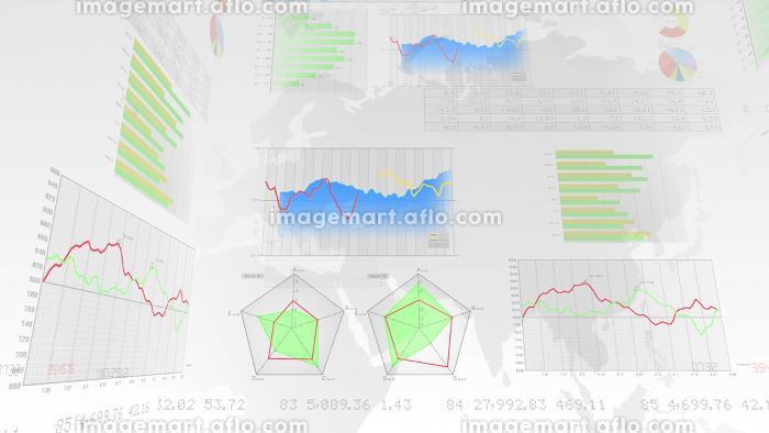 ビジネス 経済 金融 データ グラフ チャート 資料 成長 成功 3D イラスト 背景 バックの販売画像
