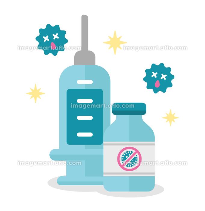 新型コロナウイルス (COVID-19) ワクチン・治療薬 ベクターイラストの販売画像