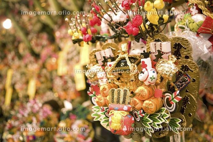 酉の市の熊手の販売画像
