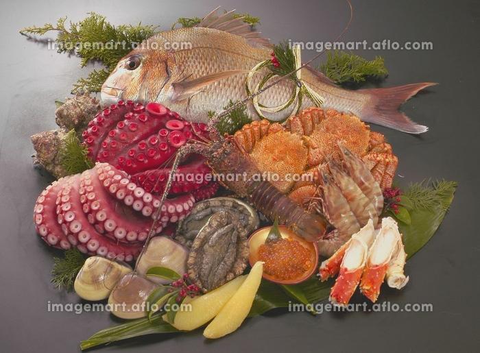 正月鮮魚の販売画像