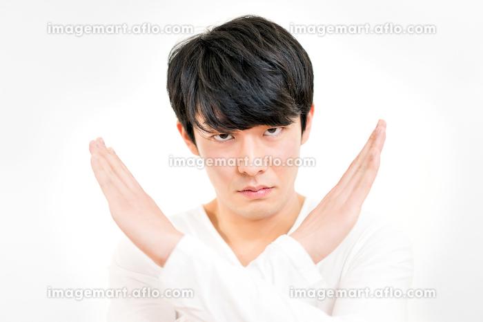 男性(拒否・禁止・バツ)ポーズの販売画像