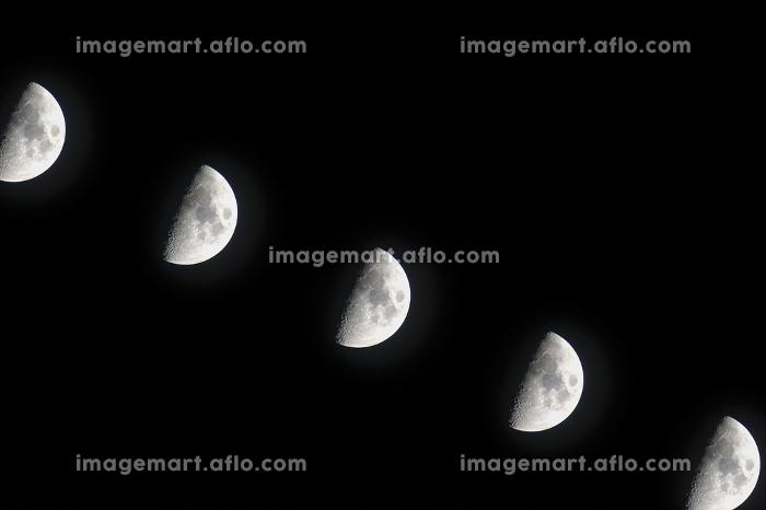 夜の月(多重露光・500mm)の販売画像