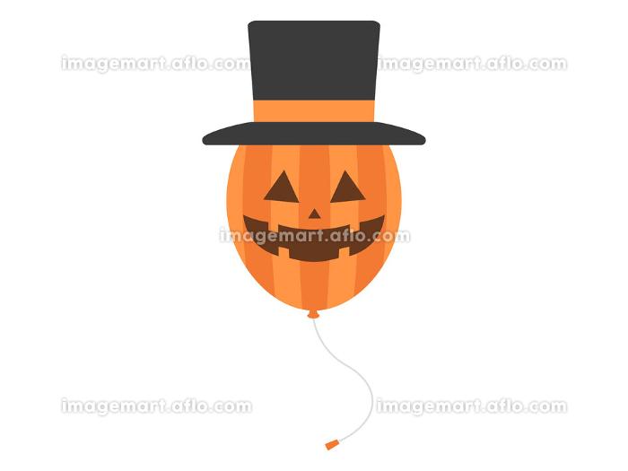 ハロウィーンのカボチャのオバケの風船のイラストの販売画像