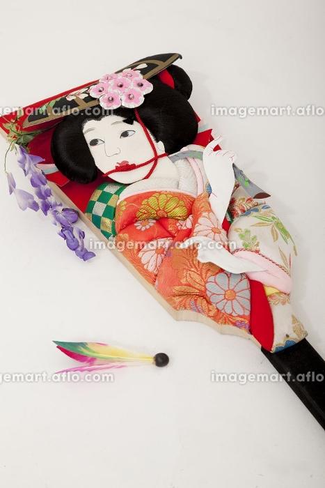 羽子板と羽根の販売画像