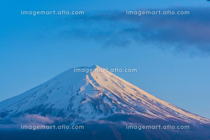 夕景の富士山の販売画像