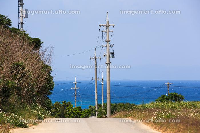 日本最南端の波照間島・ニシ浜へ向かう道の販売画像