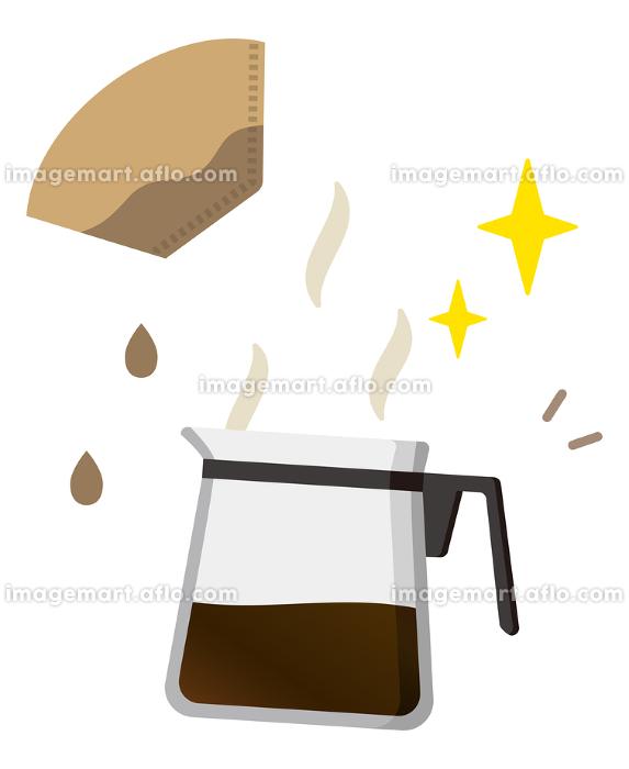コーヒーサーバーとコーヒーフィルターの販売画像