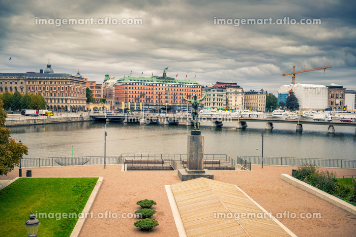 Embankment in central part of Stockholm.の販売画像