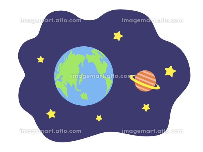 宇宙空間のイラストの販売画像