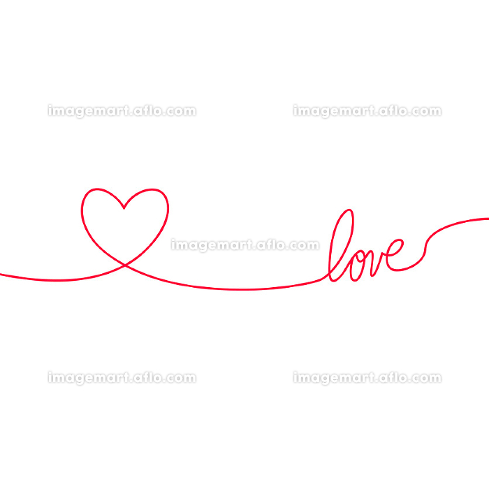 Heart and love in continuous drawing lines in a flat style in continuous drawing lines. Continuous black line. The work of flat design. Symbol of love and tenderness