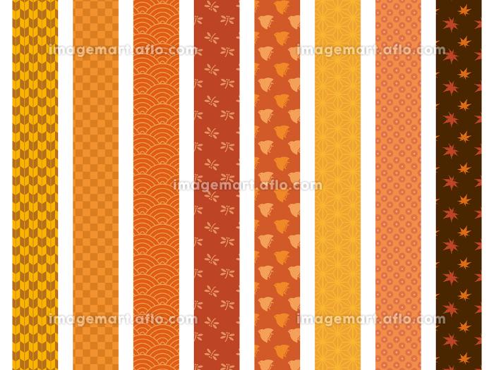 秋 和柄模様 帯 仕切り素材の販売画像