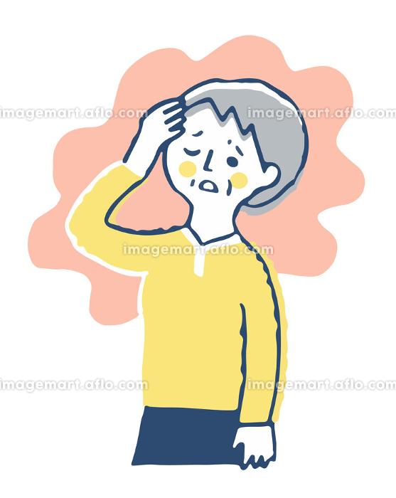 頭痛で困っているシニア女性