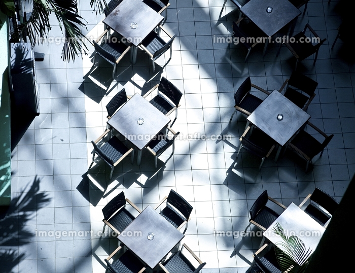 cafe tables top view photoの販売画像