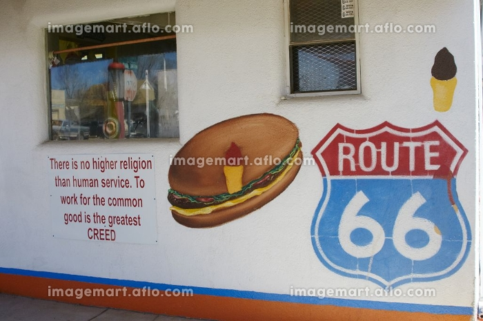 セリーグマンの歴史的ルート66歓迎看板の販売画像