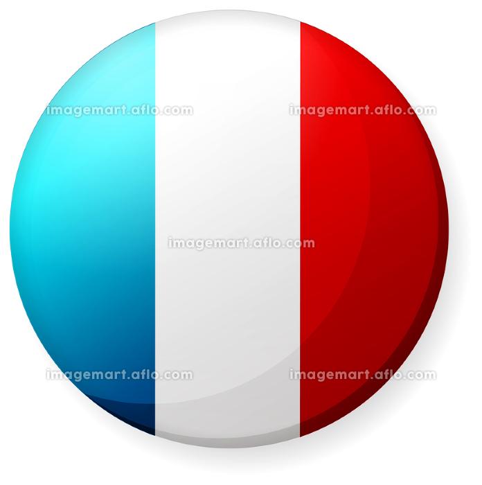 半球体・円形 国旗イラスト ( 光沢・缶バッジ ) / フランスの販売画像