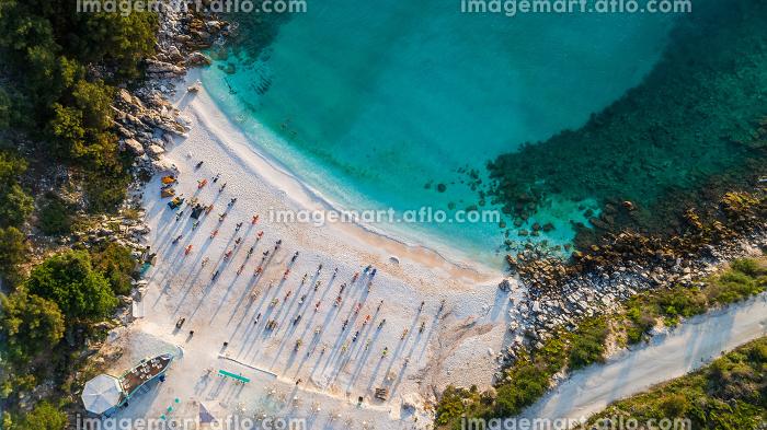 Marble beach (Saliara beach). Thassos island, Greeceの販売画像