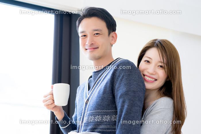 コーヒー・朝・カップルの販売画像