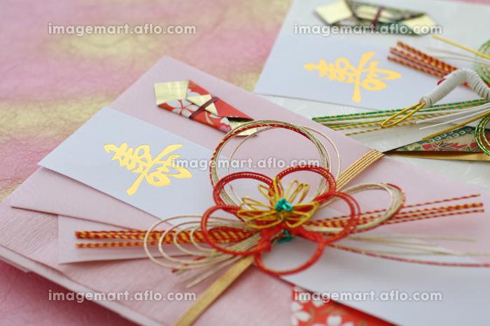 お祝いの時にお金を包んで渡す日本の文化であるご祝儀袋の販売画像