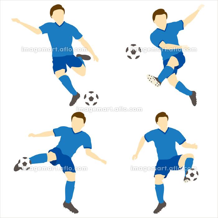 サッカーをする男性シンプルセット01の販売画像