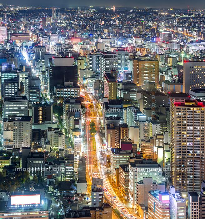 Aerial view of Nagoyaの販売画像