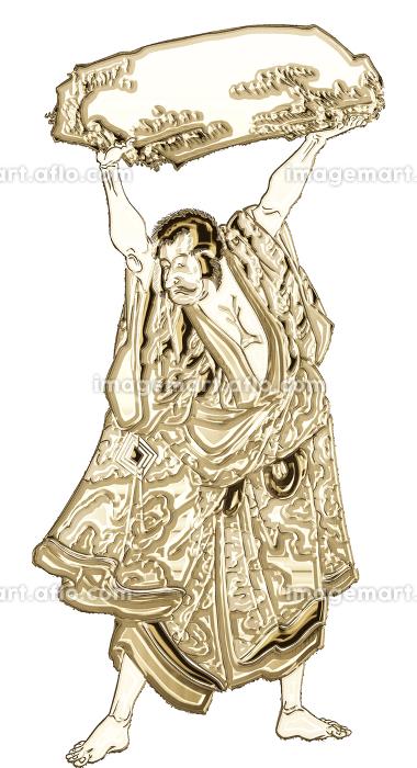 浮世絵 歌舞伎役者 その23 ゴールドバージョンの販売画像