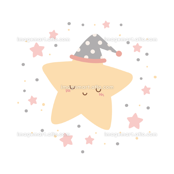 かわいい星のキャラクターの販売画像