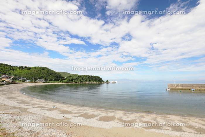 静かな夏休みの海辺の販売画像