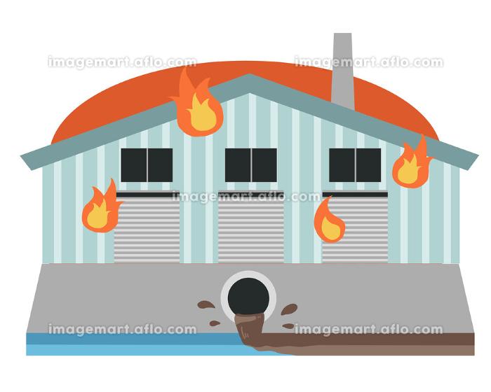 工場 火災による汚水の流出の販売画像