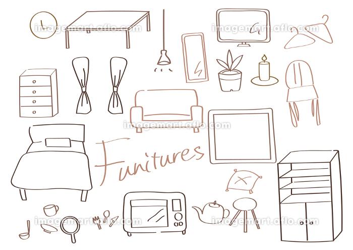 新生活 家具セット 単色茶色の販売画像