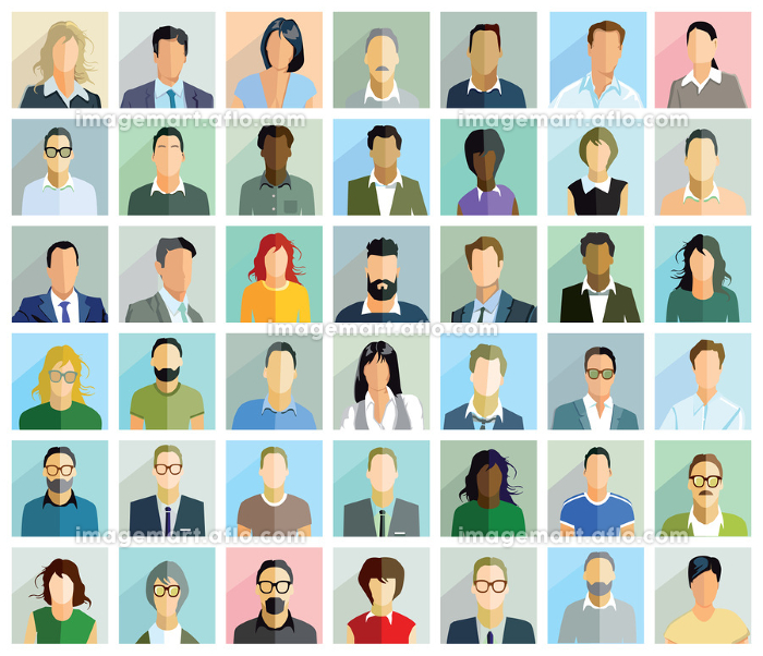 group people portraitの販売画像