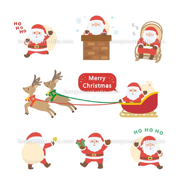 サンタクロース ポーズバリエーションセットの販売画像