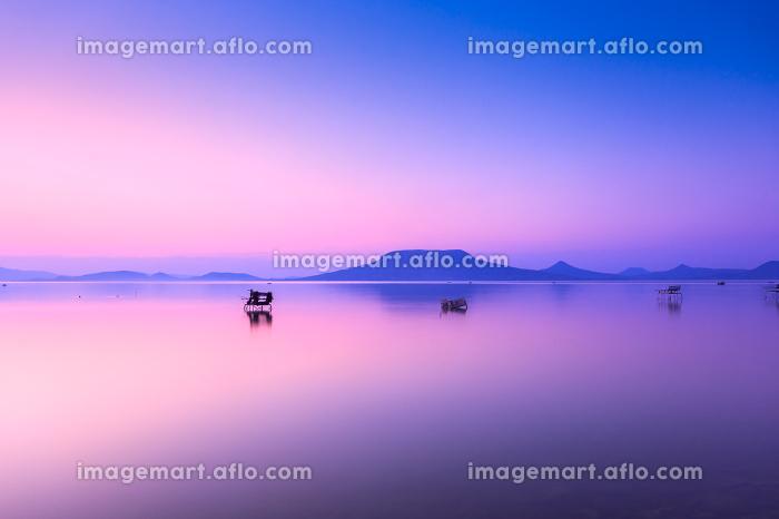Beautiful sunset in lake Balatonの販売画像