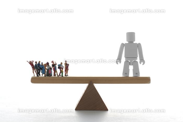 人とロボットの能力の比較の販売画像