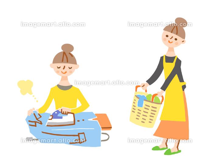 家事 洗濯 アイロンがけの販売画像
