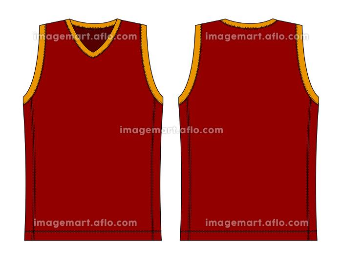 タンクトップ・ノースリーブシャツ・バスケットボールユニフォーム テンプレートイラストの販売画像