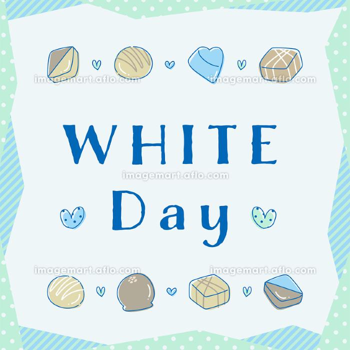 whiteday ホワイトデー ハート バナー POP の販売画像